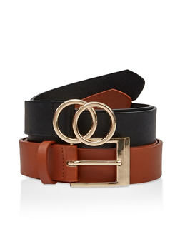 Basic Faux Leather Belt Duo - 1128074392002