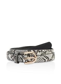 Plus Size Animal Skinny Belt - 1128074392550