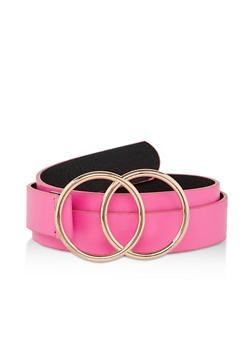 Metallic Buckle Neon Belt - 1128074392691