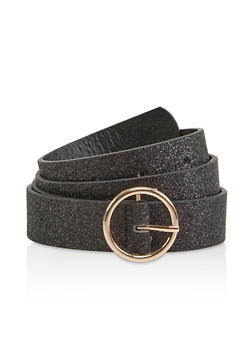 Glitter Faux Leather Belt - 1128074392731