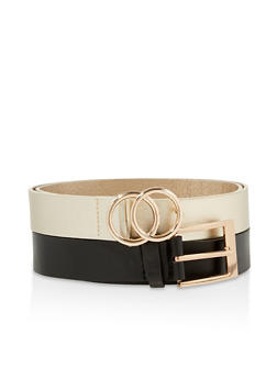 Plus Size Set of 2 Faux Leather Belts - 1128074392772