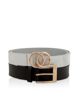 Plus Size Set of 2 Faux Leather Belts - 1128074392772