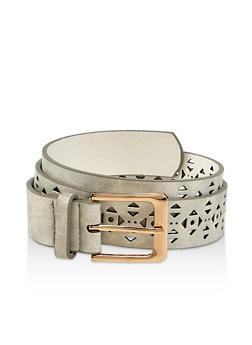 Aztec Laser Cut Faux Leather Belt - 1128074392823
