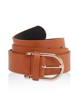 Basic Faux Leather Belt - 1128074392847