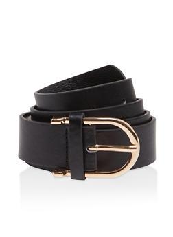 Plus Size Basic Faux Leather Belt - 1128074393748