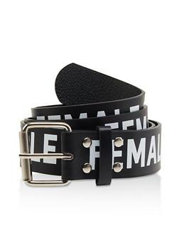 Black Metallic Belts