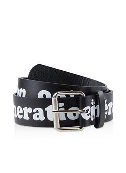 90s Generation Faux Leather Belt - 1128074396824