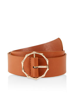 Metallic Bamboo Buckle Belt - 1128074397856
