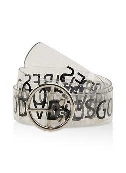 Good Vibes Graphic Clear Belt - 1128074397935