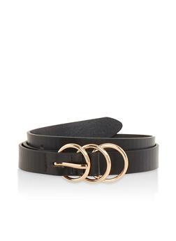 Triple Ring Skinny Belt - 1128074500025