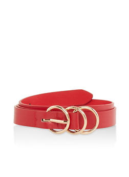 Triple Ring Skinny Belt - 1128074500025