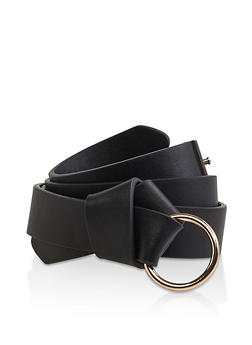 Knotted Faux Leather Belt - 1128074500110