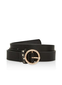 Aztec Loop Faux Leather Belt - 1128074500445