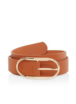 Plus Size Oval Buckle Belt - 1128074500455