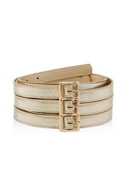 Plus Size Triple Strap Belt - 1128074501710