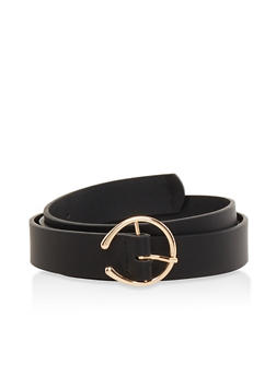 Plus Size Faux Leather Belt - 1128074502857