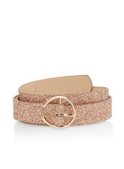 Plus Size Faux Leather Belt - 1128074502857