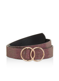 Plus Size Double Ring Shimmer Belt - 1128074502880