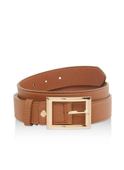 Plus Size Faux Leather Belt - 1128074503330