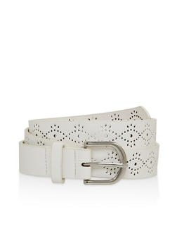 Perforated Faux Leather Belt - 1128074508010