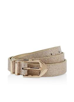 Lurex Skinny Belt - 1128075470244
