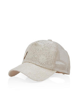 Lace Front Trucker Hat - 1129067440808