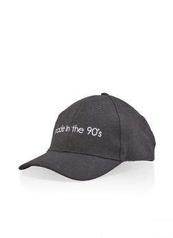 Made in the 90s Embroidered Baseball Cap - BLACK - 1129067442308
