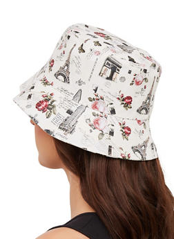 Floral City Print Bucket Hat - 1129067442911