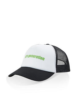 90s Generation Trucker Hat - White - 1129067443366