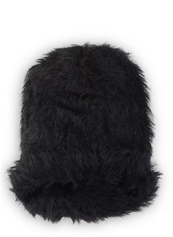 Faux Fur Beanie - BLACK - 1129067444816