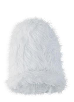 Faux Fur Beanie - WHITE - 1129067444816