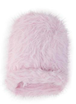 Faux Fur Beanie - PINK - 1129067444816