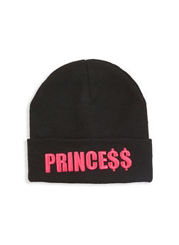 Princess Embroidered Beanie - 1129067444821