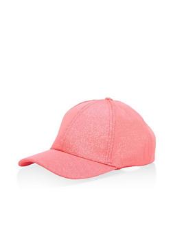 Glitter Mesh Baseball Hat - NEON PINK - 1129067448005