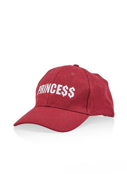 Princess Embroidered Baseball Cap - 1129067448024