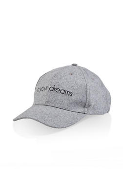 In Your Dreams Embroidered Baseball Cap - 1129067448027