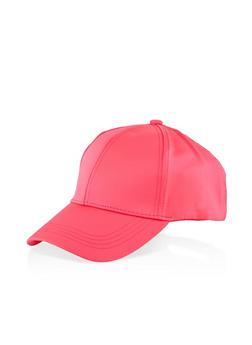 Scuba Knit Baseball Cap - NEON PINK - 1129067449009
