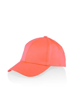 Scuba Knit Baseball Cap - NEON ORANGE - 1129067449009