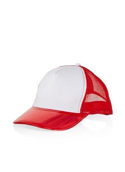 Plastic Brim Snapback Trucker Hat - 1129067449011