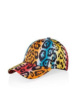 Multi Color Leopard Print Baseball Hat - 1129067449014