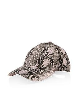 Snake Print Baseball Hat - PINK - 1129067449015