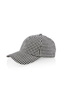 Checkered Tie Back Baseball Hat - 1129071215103