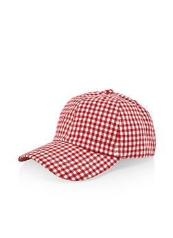 Checkered Tie Back Baseball Hat - Multicolor - 1129071215103