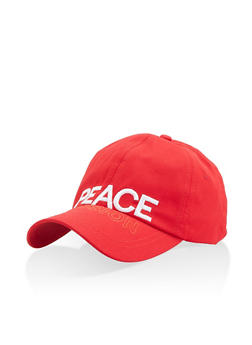 Peace Illusion Embroidered Baseball Cap - 1129074391288