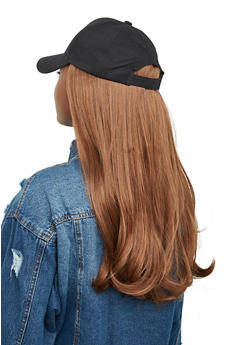 Synthetic Hair Wig Baseball Cap - 1129074391369