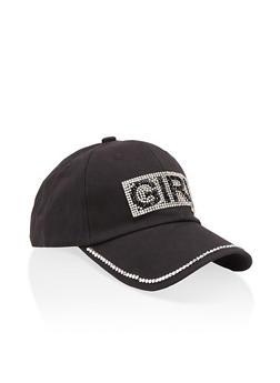 Rhinestone Girl Baseball Cap - 1129074391372