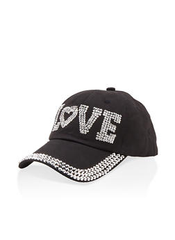 Love Studded Baseball Cap - 1129074391373