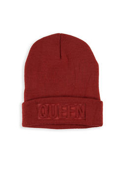 Queen Embossed Beanie - 1129074393222