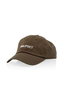Hashtag Im Upset Embroidered Baseball Cap - OLIVE - 1129074506107