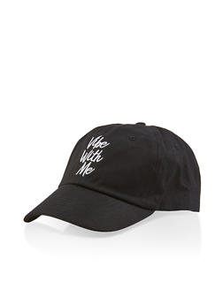 Vibe With Me Embroidered Baseball Cap - 1129074507601